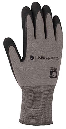 Carhartt Men's Thermal WB Waterproof Breathable Nitrile Grip Glove, Grey, L