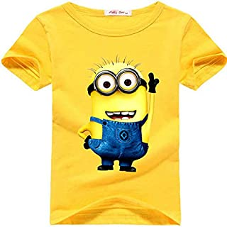 cartoon anime figure despicable me minions clothes children t shirts top 3-4 years