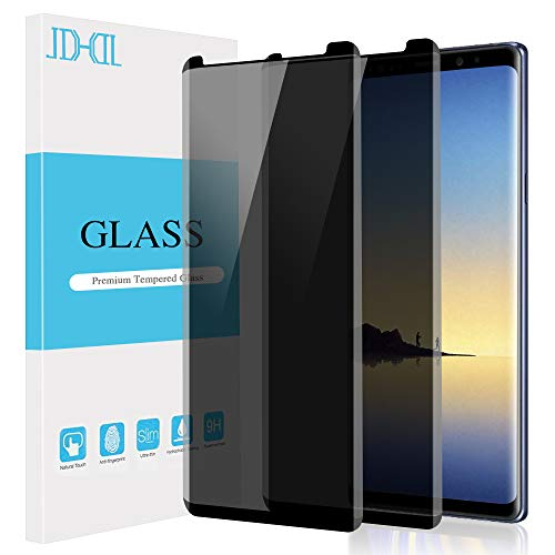 AOKER for Galaxy Note 8 / Note 9 Privacy Screen Protector Tempered Glass Film, 3D Curved Edge Case Friendly Easy Install Anti Spy/Scratch Compatible Samsung Galaxy Note 8 / Note 9