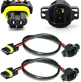 iJDMTOY (2 5202 H16 Wire Harness for Installing Xenon Ballast to Stock Socket for Xenon Headlight Lighting Kit