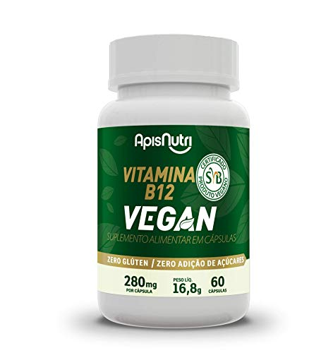 Vitamina B12 Vegan 280mg (60 caps), Apisnutri
