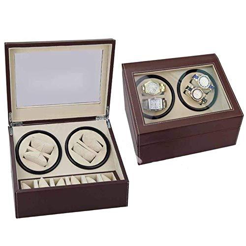 HYCy Caja de Reloj Doublehead Black PU Caja de Motor eléctrico Bobinado...