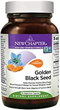 New Chapter Black Seed Oil - Golden Black Seed + Turmeric for Healthy Mood + Healthy Blood Sugar + Healthy Weight - 30 ct Vegetarian Capsule