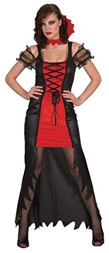 Ciao-Costume Vampira sexy, taglia unica adulto Donna, Rosso,nero, 62171