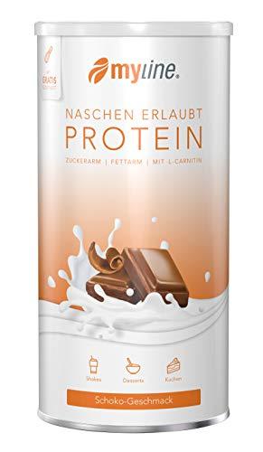 myline Protein Schoko - hochwertiges Proteinpulver inkl. Rezeptheft, Verpackungseinheit: 400g Dose
