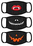 Halloween Cloth Face Mask Set of 3 Washable Scary Face Mask for Kids Reusable Halloween Face Mask 3 Pack