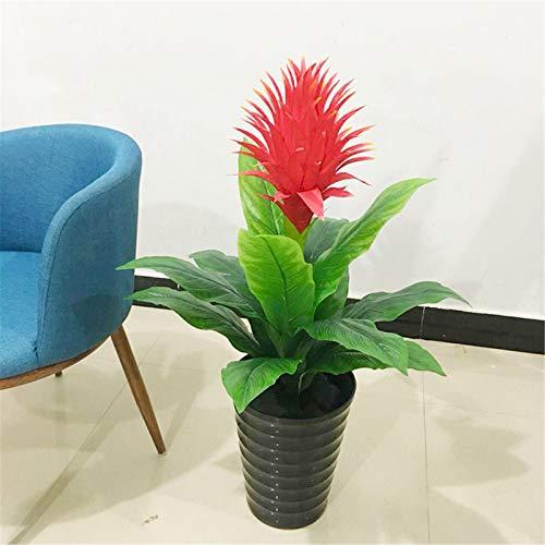 DGZJ Im Gegensatz zu frischen Pflanzen sind die Blumen Home Dekoration Grüne Pflanze Topf Indoor Wohnzimmer Boden Bonsai Simulation Blumenstrauß Fortune Head Tree Für Wohnzimmer-Büro-Party-Dekoration