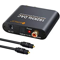 Neoteck Conversor Digital DAC SPDIF Coaxial Toslink a Analágico Estéreo L/R RCA 3.5mm Jack Audio Convertidor con Cable Óptical Alimentación para PS3 Xbox HD DVD PS4 Sky HD Plasma BLU-Ray Home Cine Si