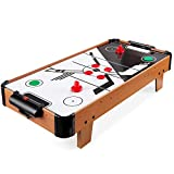 Best Choice Products 40in Portable Tabletop Air Hockey Arcade Table for Game Room, Living Room w/ Electric Fan Motor, 2 Strikers, 2 Pucks - Multicolor