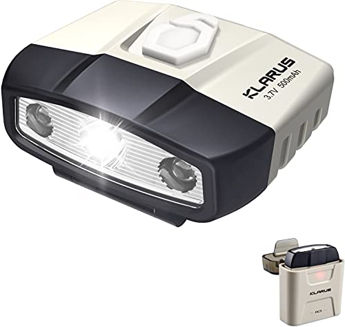 klarus HC5 LED Clip Cap Licht Cap Light Clip Lampe 120 Lumen mit Ladekoffer, wiederaufladbarer Sensorsteuerung für Camping, Angeln, Lesen und Arbeit