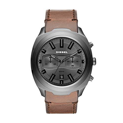 Diesel Herren Chronograph Quarz Uhr mit Leder Armband DZ4491