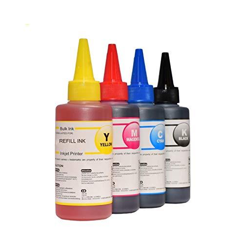 Huiyue Kit de Recarga de Tinta for HP301 HP140 HP141 Cartucho XL HP300 HP 302 XL HP121 HP122 HP650 HP652 HP651 XL Impresora de Tinta HP 304 XL 4x100ml Accesorios de Impresora (Color : 4 Color)