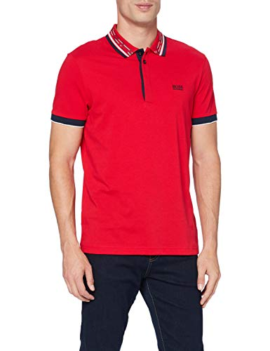 BOSS Herren Paddy 1 Polo Shirt, Bright Red (623), S EU