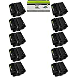 GREENCYCLE 10 Pack Black High-Yield Compatible Toner...