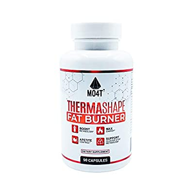 MO4T Thermashape - Thermogenic Weight Loss Supplement for Women & Men - Keto Friendly Carb Blocker with Berberine - Natural Fat Burner, Appetite Suppressant & Energy Booster - USA Made - 90 Tablets