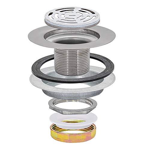 EZ-FLO 30031 flat top shower drain strainer stainless steel, 2.3 x 4.5 x 4.6