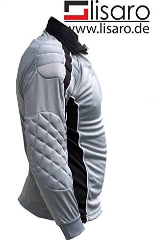 Lisaro - Fußball-Torwarttrikots für Jungen in schwarz-grau, Größe 152