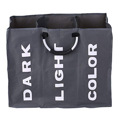 Go-lanzi Faltbarer Wäschekorb Wäschekorb Dreiteiliger großer Faltbarer Wäschekorb Robuster Aufbewahrungsbeutel für schmutzige Kleidung aus Oxford-Stoff mit Aluminiumgriffen