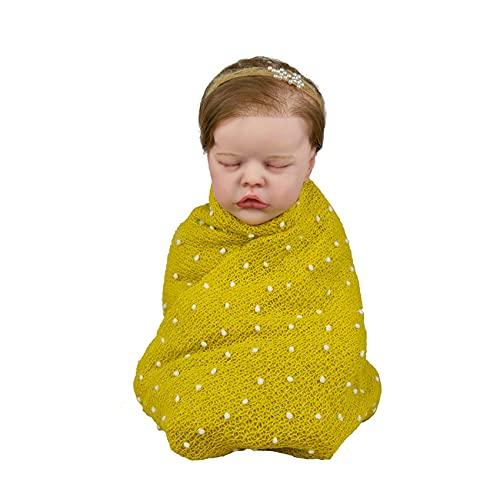 chisatowww Reborn Baby Dolls - Muñeca Realista de Vinilo de Silicona Suave Realista, muñeca Hecha a Mano con Ropa Real Muñecas de bebé para Madres Principiantes Regalos 50CM