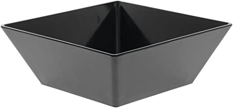 Serving Bowl Black Square Melamine 11 4/5 L
