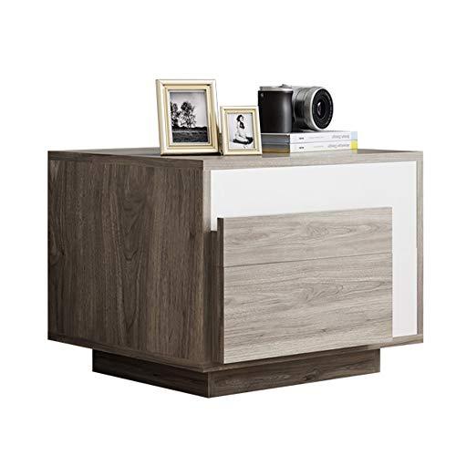 Hairong nachtkastje Modern Fashion opbergbank bijzettafel met 2 lade, 21.2''×19.6''×17.7''