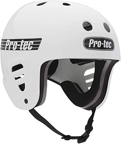 Pro-Tec フルカット ウォーター クリップ付き (グロスホワイト) ウェイクボードヘルメット-S