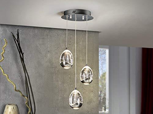 SCHULLER - Hängelampe Kollektion Rocío LED 3 Leuchten, Farbe Chrom