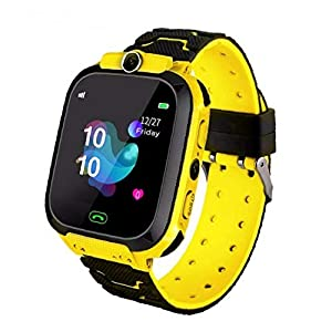 PiniceCore 1pc Kids Watch Waterproof Baby Sos Positioning 2g Sim Card Anti-lost Smartwatch Children Clock Call Watch Yellow
