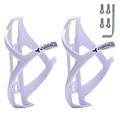 corki Bike Water Bottle Holder, Bicycle Water Bottle Cage for Road Bikes Mountain Bikes White 2-Pack