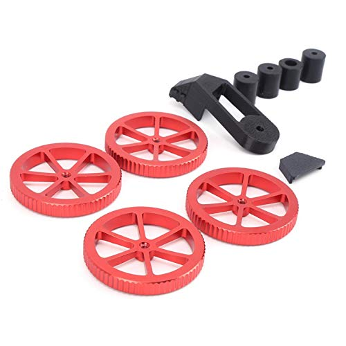 Fockety Hot Bed Die Springs, langlebiges Hand Twist Leveling Nut Kit, für Printer Ender