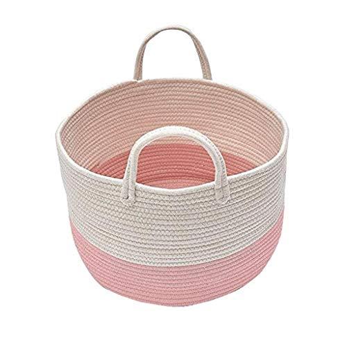 SMEJS - Cubo de almacenamiento de ropa de algodón tejido