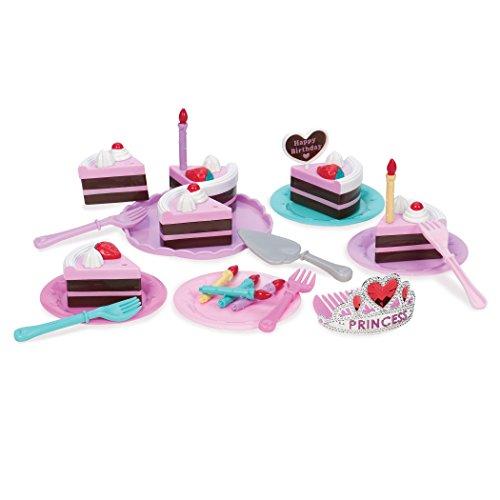 PLAY Circle von Battat – Prinzessinnen Geburtstagstorte Spielzeug – Geburtstagskuchen mit Kerzen, Geschirr und Prinzessinnenkrone für Kinder ab 3 Jahren (24 Teile)