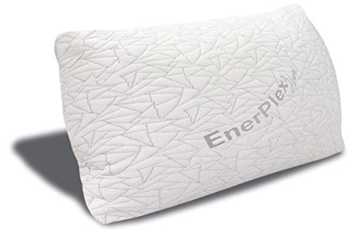 EnerPlex Never-Flat Queen Pillow, CertiPUR-US Certified Adjustable Loft Memory Foam Bed Pillow Cooling Machine Washable Bamboo Cover 30x20 5-Year Warranty
