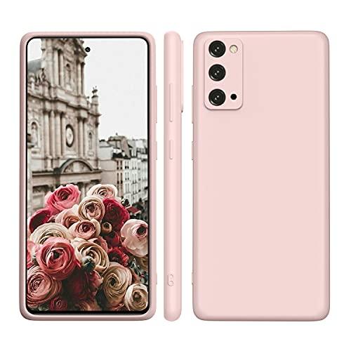 ORDA Samsung Galaxy S20 FE Hülle Silikon Hülle 4G/5G, Hanyhülle Samsung S20 FE Hülle Dünn mit Microfiber, Kameraschutz & Displayschutz, Kratzfeste Hülle für Samsung Galaxy S20 FE 6.5'' Pink Rosa
