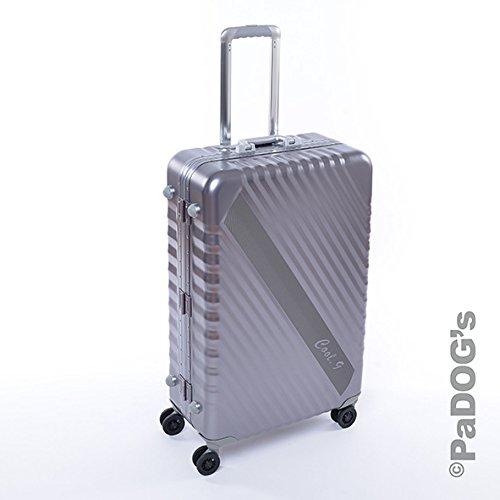Bontoy cool-9 Aluminium-Reisekoffer dunkel grau L, 92 Liter, mit TSA Schloß