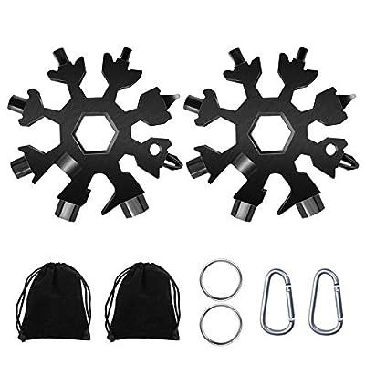 18-in-1 Snow Multi-Tool, Easy N Genius Stainless Steel Snowflake Screwdriver Multitool Great Christmas Gift(Pack of 2)……