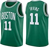 GIHI Camiseta De La NBA para Hombre, Camisetas De Boston Celtics Kyrie Irving 11#, Ropa De Entrenamiento De Baloncesto De Malla Bordada Retro,M(170~175CM/65~75KG)