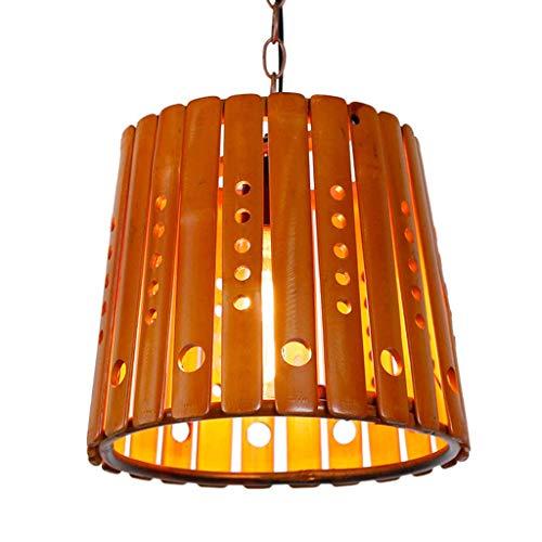 miwaimao Lámpara de araña rústica ovalada de madera de malla colgante Light Fixture, casa de campo, cocina araña Edison colgante techo colgante