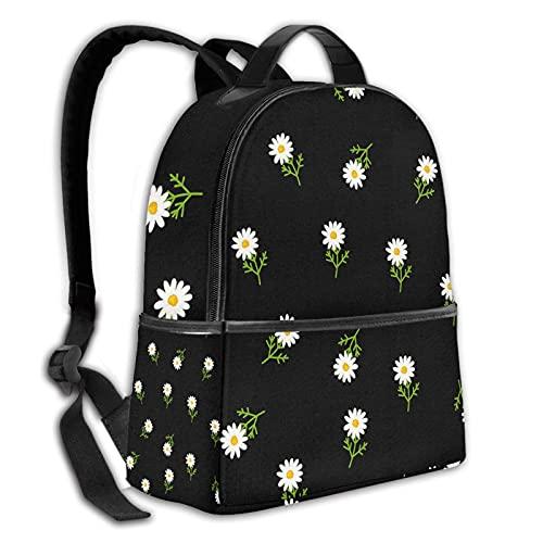 ZHOUWE Mochila duradera Escalas de pescado bolsa de escuela colegio niño niña hombres y mujeres mochila de viaje, Margaritas flores2, Talla única