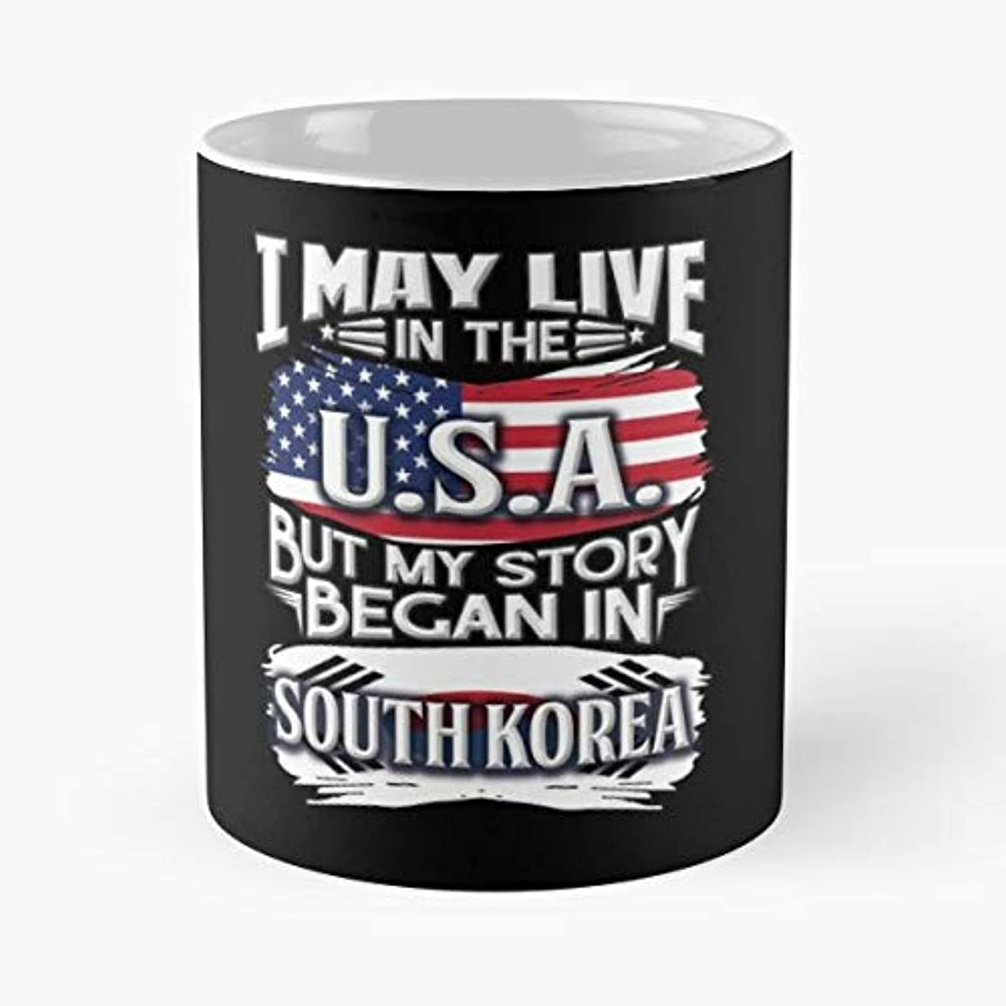 South Korean Pride Korea Flag Roots - White -coffee Mug- Unique Birthday Gift-the Best Gift For Holidays- 11 Oz.
