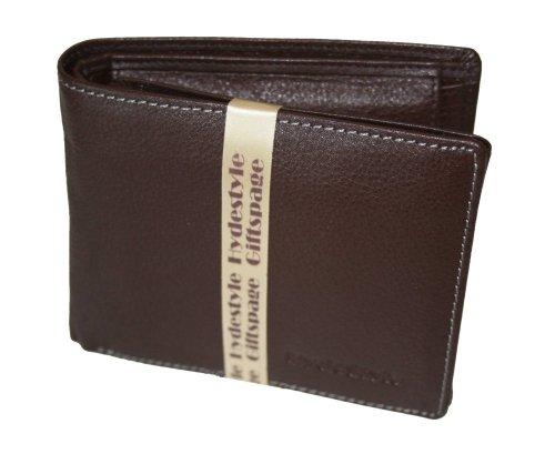 HYDESTYLE Pratico 17 Card Leather Trifold, Portafoglio Uomo