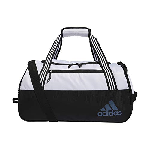 adidas Squad Duffel Bag, Unisex-Erwachsene, Squad, Seesack, 5150749, Jersey, Weiß / Schwarz, Einheitsgröße