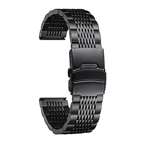 BINLUN Correa de Reloj Acero Inoxidable Compatibles con Huawei GT/GT2 42mm 46mm/Huawei Watch 2 Classic/Sport Smartwatch - 4 Colores Correas de Reloj 20mm 22mm Pulseras de Repuesto para Huawei