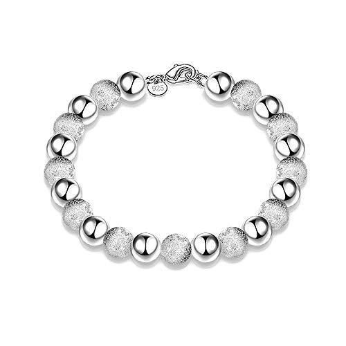 Fliyeong 1 pulsera chapada en plata para mujer