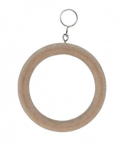 Kerbl Ringschaukel aus Holz, ø 10 cm