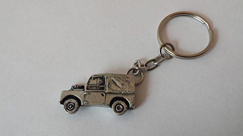 Land Rover Schlüsselanhänger 3D-RING aus feinem englischem Zinn