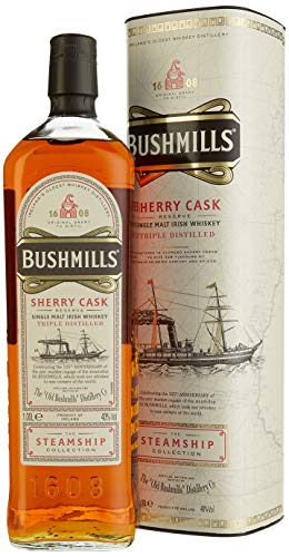 Bushmills Sherry Cask Reserve The Steamship Collection mit Geschenkverpackung (1 x 1 l)