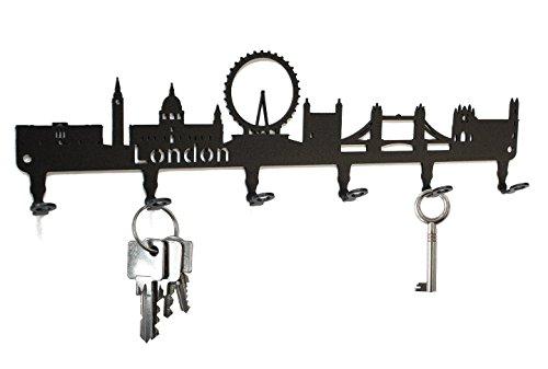 Tablero de llaves - London horizonte - ganchos para llaves, acero