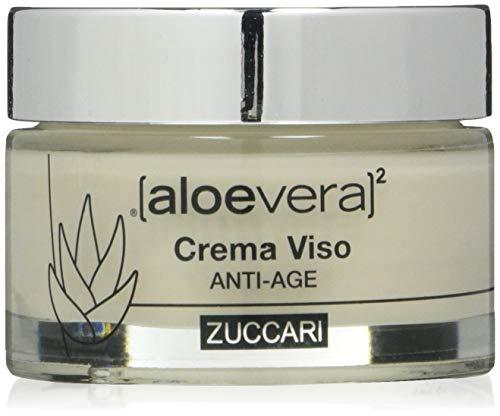 ZUCCARI Linea X2 - Crema Viso Anti Age, Acido Jaluronico e Q10, Aloe Vera, 50 Millilitri