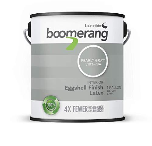 Boomerang Eco-Friendly Interior Paint, Eggshell Finish (Pearly Grey)